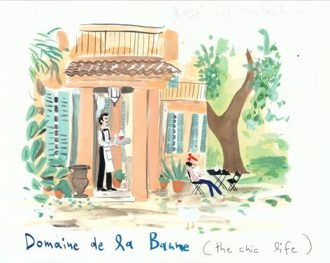 Domaine de la Baume, 2013, Gouache on paper
