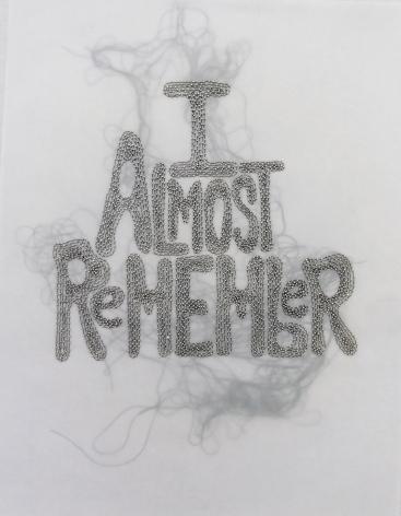 Rob Wynne, I Almost Remember, 2014