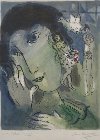 Marc Chagall The Poet 1966 Lithograph