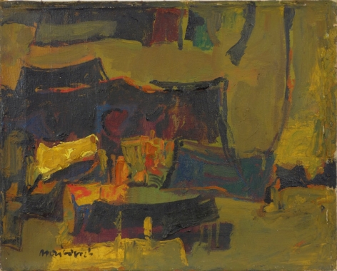 Zvi Mairovich Abstract Composition Oil on Canvas