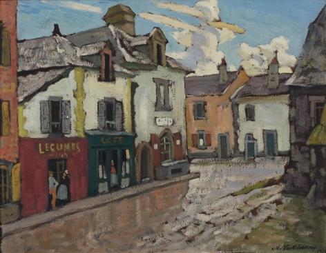 Arnold Lakhovsky Russian European Street Scene Oil