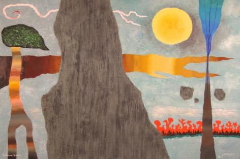 Yohanan Simon Fantastic Landscape Oil on Canvas