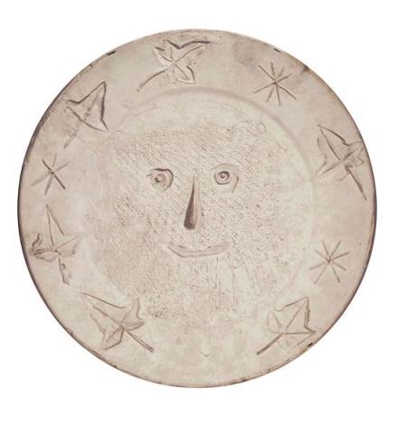 Pablo Picasso Visage auxs feuilles, 1956  Ceramic