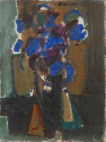 Zvi Mairovich Flower Still Life Oil on Canvas