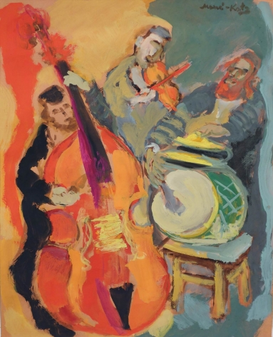 Mane-Katz Orchestra Gouache on Paper