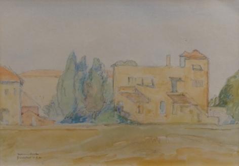 Hermann Struck German Israeli Jerusalem 1941 Watercolor Signed and Dated