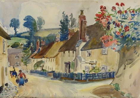 Hayley Lever East Budleigh England Watercolor on Paper