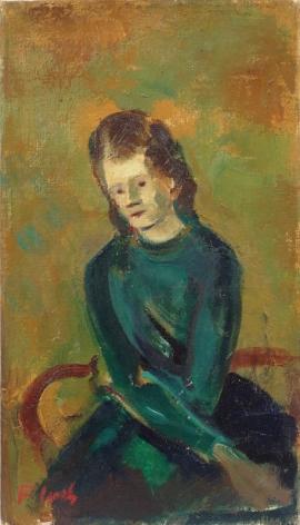 Joseph Floch Portrait of a Woman Oil on Canvas