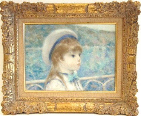 Andre Gisson Portrait of a Girl in Landscape Oil on Canvas Signed
