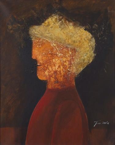 Jean David Portrait Oil on Canvas