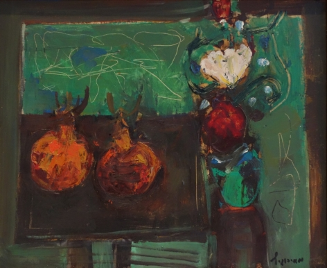 Zvi Mairovich Still Life Oil on Canvas