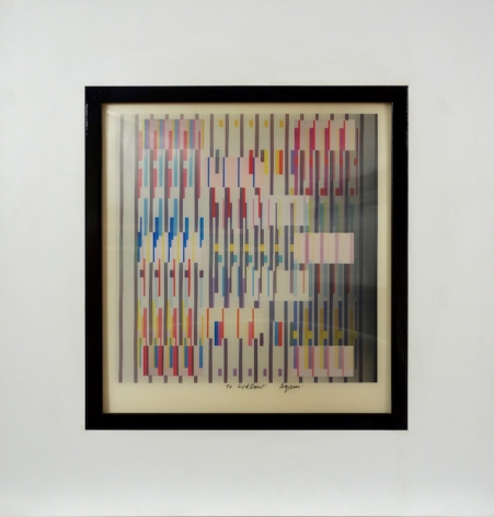 Yaacov Agam Israeli Agamograph In and Out from Rythme Blanc Noir Suite #2