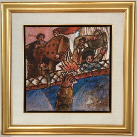 Theo Tobiasse L'Exit Et La Liberte Oil on Canvas