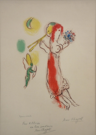 Marc Chagall Daphnis and Chloe 1959 Lithograph