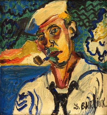 David Burliuk Sailor Oil on Canvas Signed