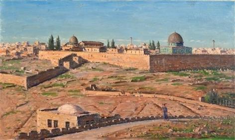 Ludwig Blum Jerusalem Oil on Canvas