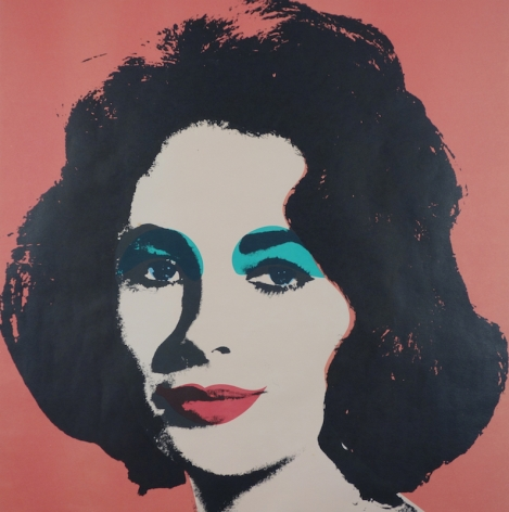 Andy Warhol Liz Taylor Lithograph 1964