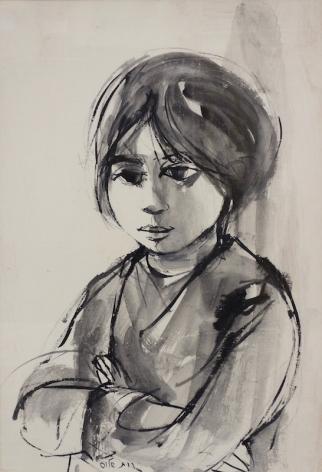 Ruth Schloss Israeli Portrait of a Girl