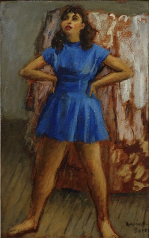 Raphael Soyer The Dancer Oil on Board