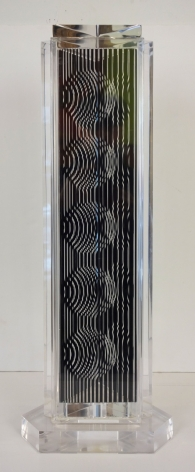 Victor Vasarely Hungarian/French Holld (Moire Tower) 1988