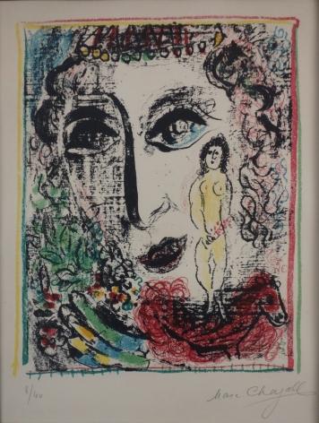 Marc Chagall Apparition At The Circus 1963 Lithograph