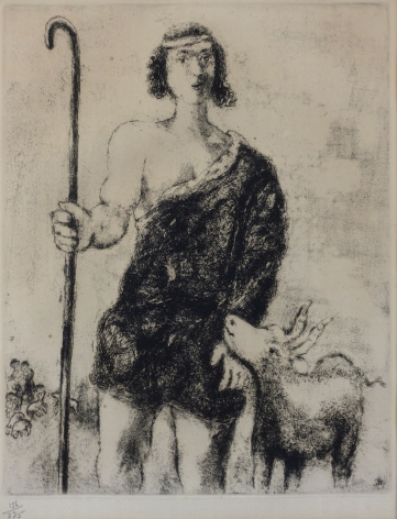Marc Chagall Young Shepherd Joseph (from the Bible Series) etching
