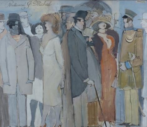 David Schneuer Painting Boulevard St. Michel