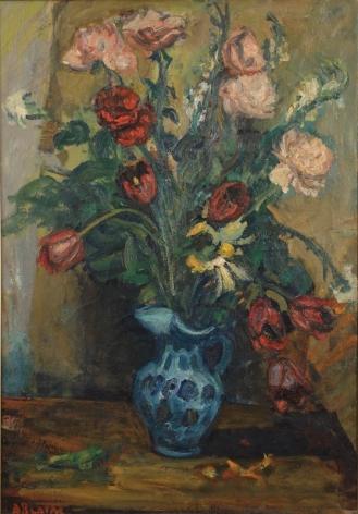 Arbit Blatas Floral Still Life Oil on Canvas