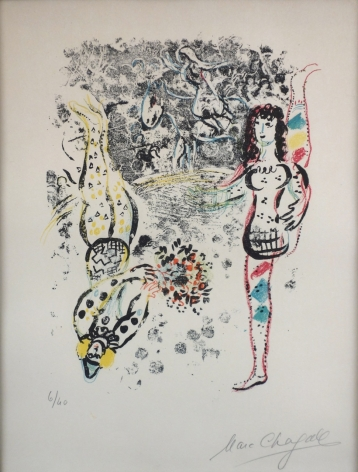 Marc Chagall Acrobats at Play Lithograph