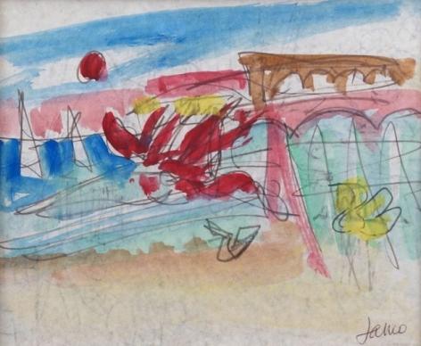 Marcel Janco Caeserea Drawing Watercolor