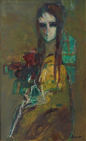 Zvi Mairovich Portrait Oil on Canvas