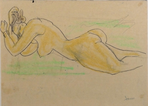Marcel Janco Israeli Romanian Nude Drawing