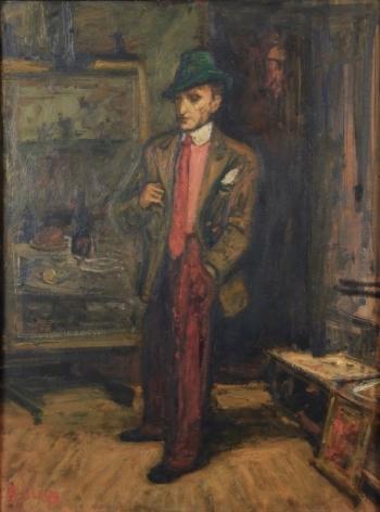 Arbit Blatas Portrait of a Man Oil on Paper