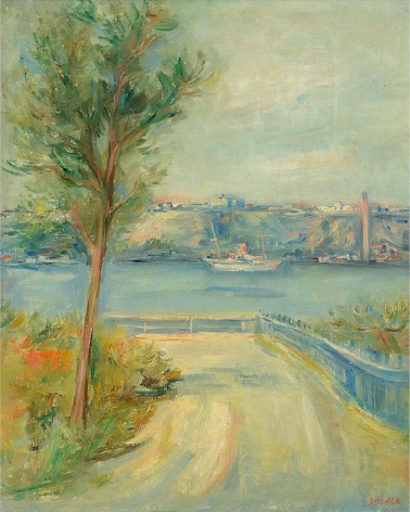 Jacques Zucker Polish Hudson River Oil on Canvas