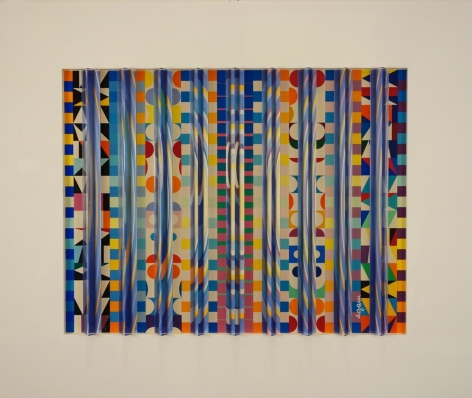 Yaacov Agam Moon-Noon Gold Prismograph Prismagraph Edition of 180