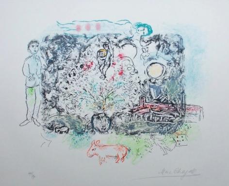 Marc Chagall La Feerie Lithograph