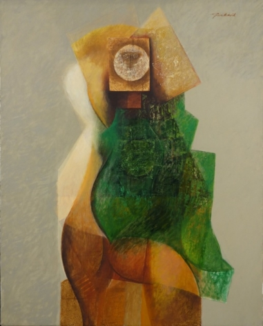 Jean David Israeli Artist Oil on Canvas Portrait