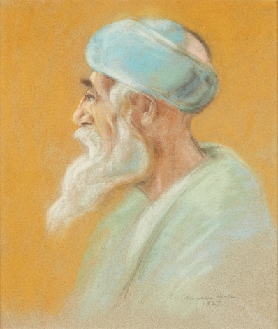 Hermann Struck Sephardic Elder 1927 Pastel on Paper