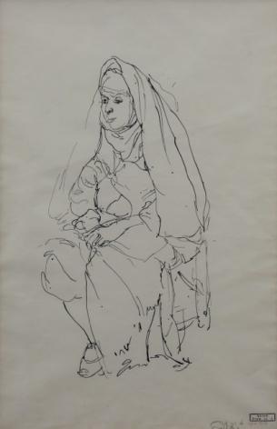 Anna Ticho Seated Woman