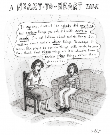 Roz Chast, A heart to heart talk, 2007