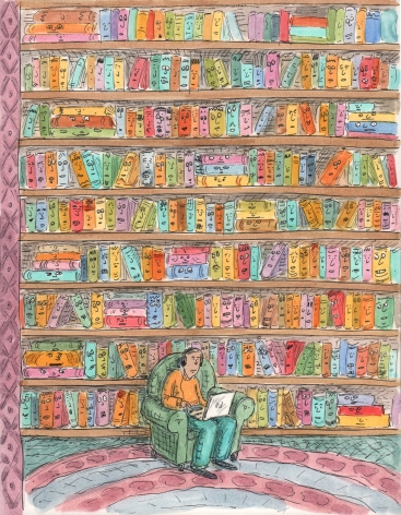 Roz Chast, Library Cover, published Oct. 18, 2010