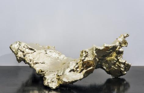 Spent Bullet [Lemon Gold], 2015-16, ABS resin, 18 carat lemon gold, 8.5 x 23.25 x 16 in., ed. of 2
