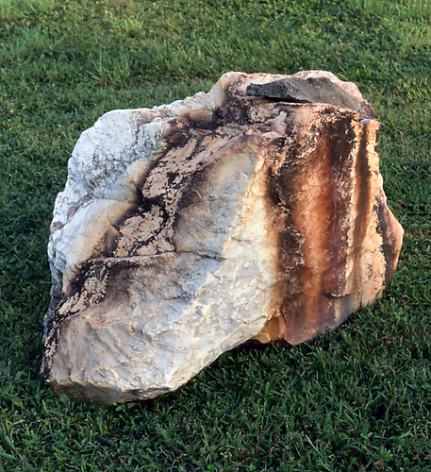 Indeterminacy XVIII, 1997,Activated June 1997; photographed: July 1999,Vermont marble, pyrite,28 x 26 x 30 inches