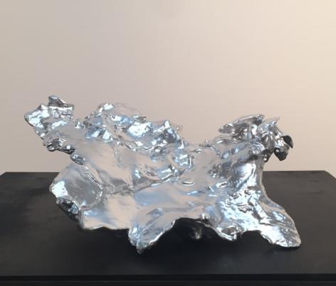 Spent Bullet [Aluminum], 2015-16, ABS resin, aluminum, 24 x 22 x 9.25 in.