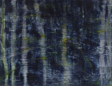 Matthias Meyer,Dark Water Painting 2,2011,oil on linen,51 1/4 x 67 inches