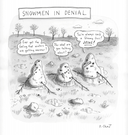 Roz Chast, Snowmen In Denial, published March 5, 2012