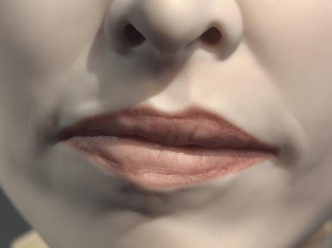 """Mouth, Clay (from series """"Eight Views of a Sculpture""""), 2008"""