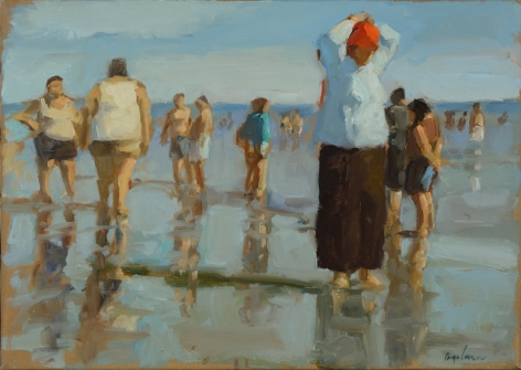 Richard Segalman, Red Bandana I, 2010, oil on canvas, 15 x 21 inches