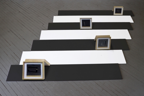 Provenance 1, 2015, Joshua Neustein: Seven Framed carbon copy drawings and one trowel