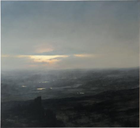 landscape mist ruins